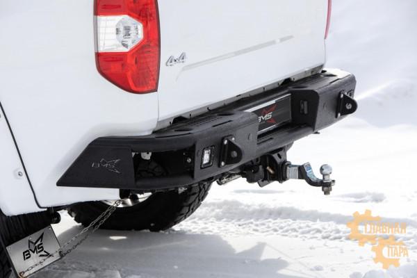Бампер силовой задний BMS ALFA для Тойота Тундра 2014-2020
