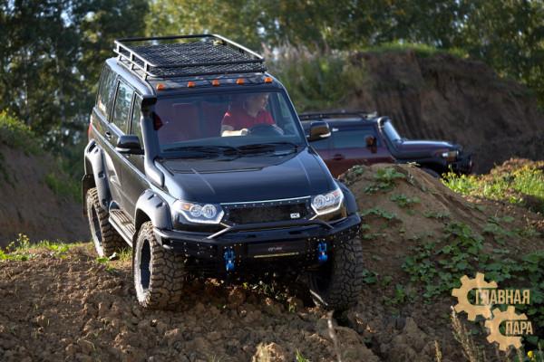 Бампер силовой передний BMS ALFA для УАЗ Патриот