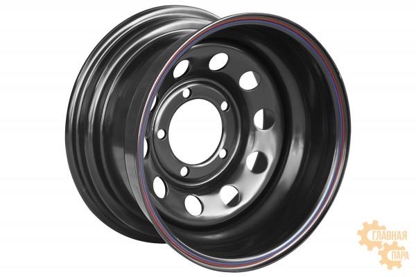 Диск усиленный УАЗ стальной черный 5x139,7 8xR15 d110 ET-40 (только на барабанные тормоза)