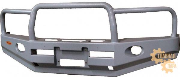 Бампер передний силовой Вездеходофф для Mitsubishi Pajero 3 с кенгурином и фарами