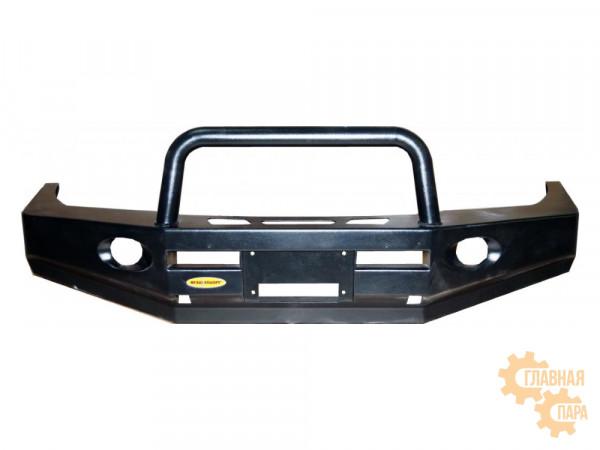 Бампер передний силовой Вездеходофф для Mitsubishi Pajero 2 с защитной дугой