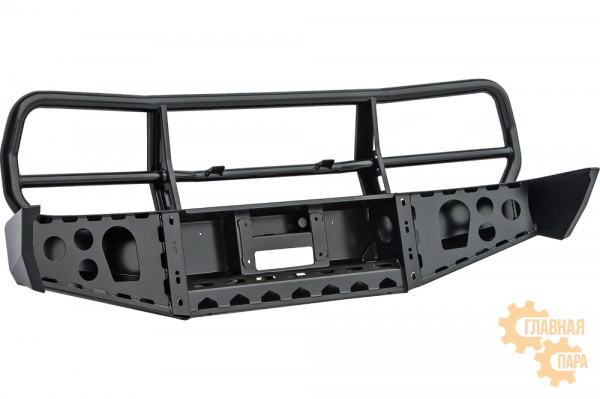 Бампер силовой передний РИФ для Toyota Land Cruiser 80 с защитной дугой, без доп. фар