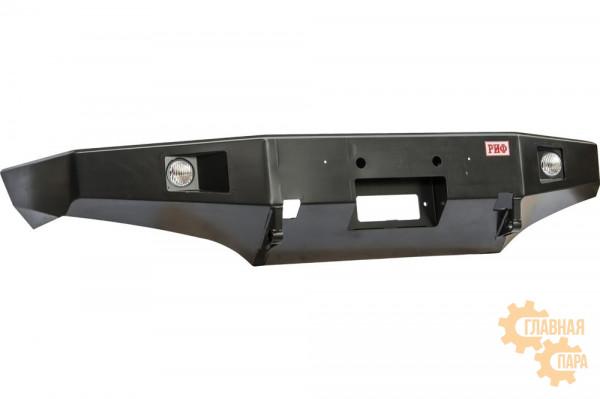 Бампер силовой передний РИФ для Toyota Land Cruiser 105 с доп. фарами без защитной дуги