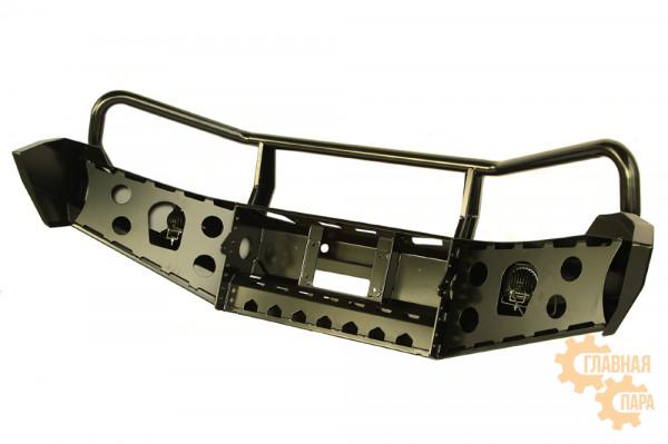 Бампер силовой передний РИФ для VW Amarok с доп. фарами и защитной дугой
