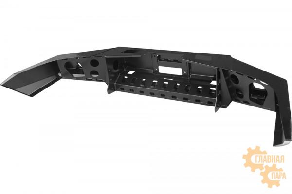 Бампер силовой передний РИФ для ГАЗ Соболь с доп. фарами без защитной дуги стандарт