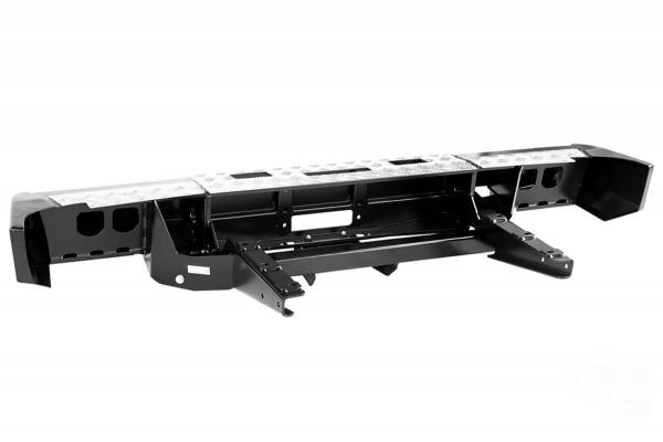 Бампер задний силовой РИФ RIFGAZ-20130 на ГАЗ Соболь с площадкой под лебёдку и квадратом под фаркоп