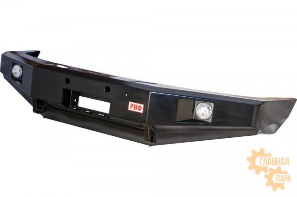 Бампер силовой передний РИФ для УАЗ Патриот 2005+ с доп. фарами, без защитной дуги