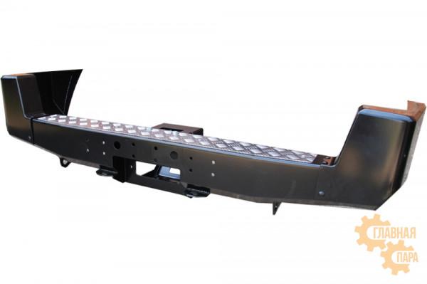 Бампер силовой задний РИФ для УАЗ Патриот 2005-2014 с площадкой под лебедку