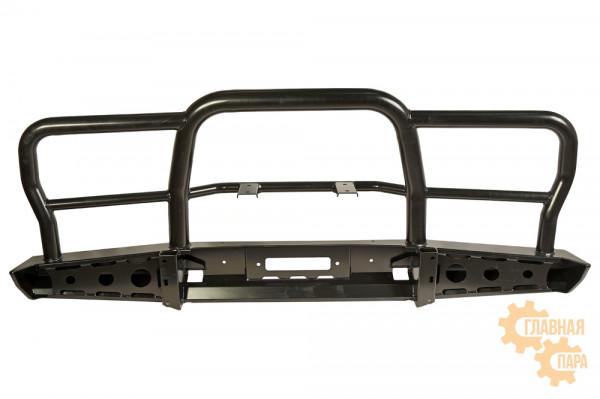 Бампер силовой передний РИФ для УАЗ Хантер усиленный с трубной защитной дугой
