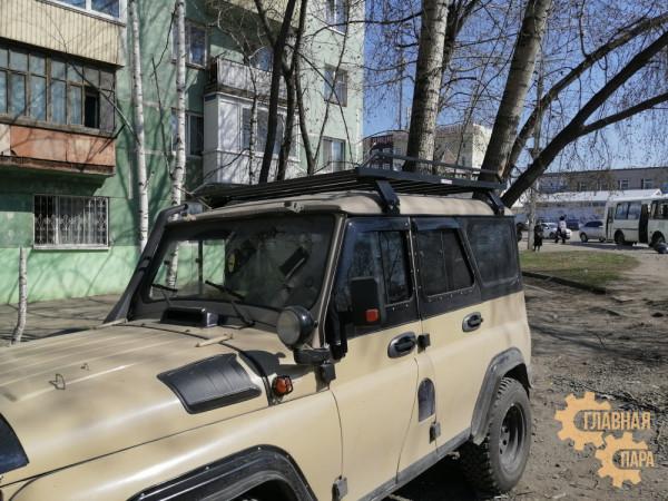 Багажник Уникар для УАЗ 469, 3151 Хантер разборный на водостоки