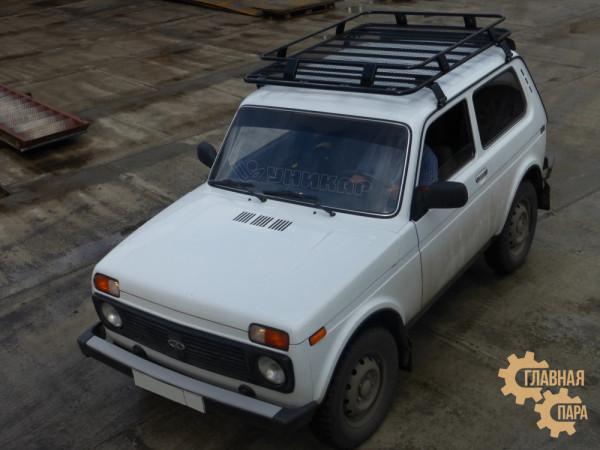 Багажник УНИКАР сварной с сеткой для ВАЗ 2121 Нива (облегченный)