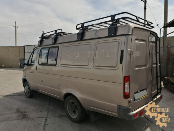 Багажник экспедиционный УНИКАР для ГАЗ-2752 Соболь Газель (1500х1500х130мм 2шт) с сеткой