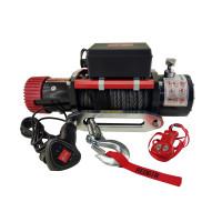 Лебедка электрическая redBTR серии HUNTER 12000lbs 12V 5448 кг с синтетическим тросом