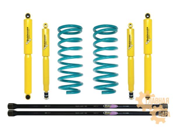 Комплект подвески Dobinsons для Mitsubishi Pajero 2 пружины 91-99 амортизаторы газовые нагрузка до 250 кг лифт 30 мм
