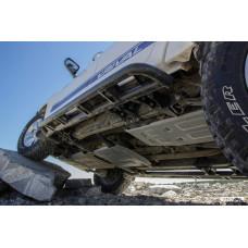 Силовые пороги Rival для Toyota Hilux Revo 2015+ (с крепежом)