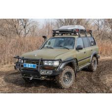 Багажник экспедиционный алюминиевый KDT для Toyota Land Cruiser 80