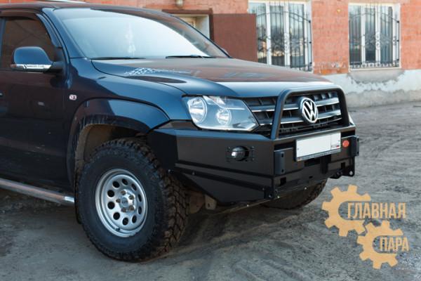 Бампер передний OJ 02.020.03 на Volkswagen Amarok 2010 с кенгурином + доп. опции