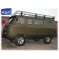 Багажник экспедиционный алюминиевый KDT для УАЗ Буханка