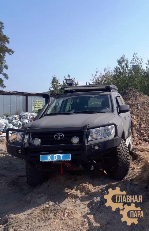 Багажник экспедиционный аэродинамический алюминиевый KDT для Toyota Land Cruiser 200