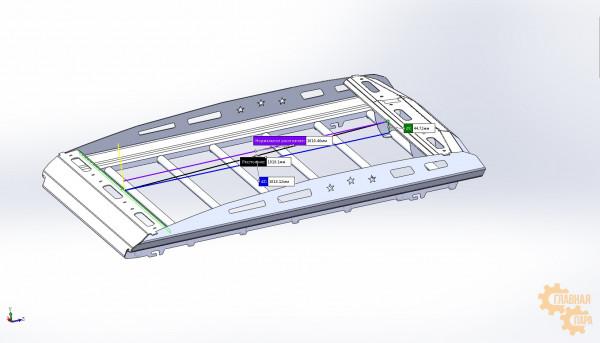 Багажник экспедиционный аэродинамический алюминиевый KDT для Toyota Land Cruiser Prado 120