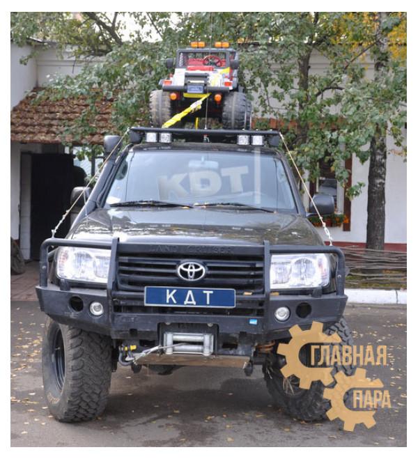 Багажник-площадка экспедиционный алюминиевый KDT для Land Cruiser 105