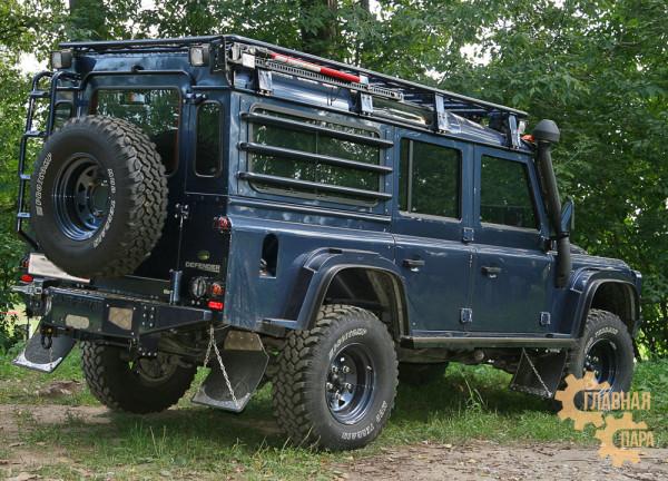 Багажник-площадка экспедиционный алюминиевый KDT для Land Rover Defender 110
