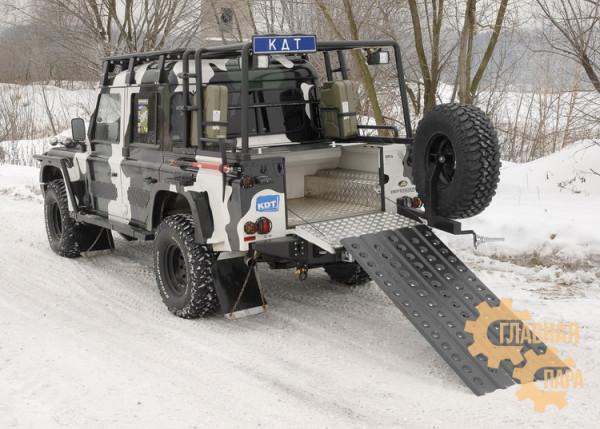 Багажник-площадка экспедиционный алюминиевый KDT для Land Rover Defender пикап