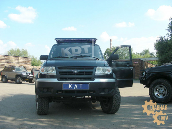 Багажник-площадка экспедиционный алюминиевый KDT для УАЗ Патриот