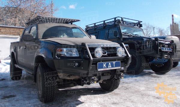 Багажник-площадка экспедиционный алюминиевый KDT для пикапов