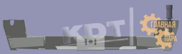Задний силовой бампер KDT