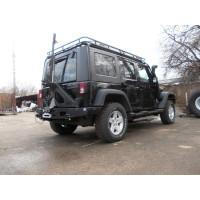 Задний силовой бампер KDT на Jeep Wrangler JK