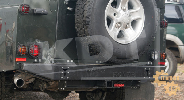 Задний силовой бампер KDT для Land Rover Defender 90/110