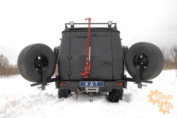 Задний силовой бампер KDT для Mercedes-Benz G-класс под лебедку