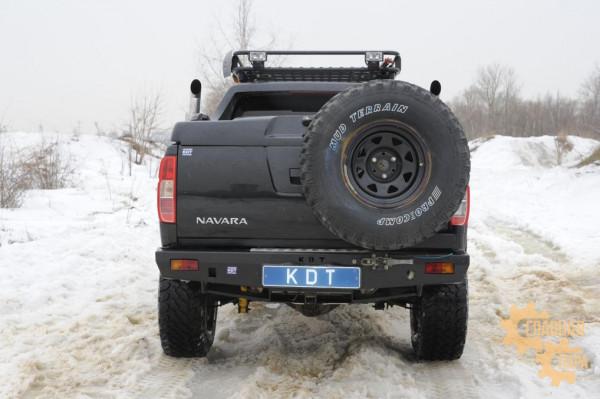 Задний силовой бампер KDT для Nissan Navara D40 под лебедку