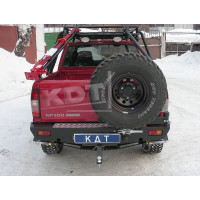 Задний силовой бампер KDT для Nissan NP-300 2010+ под лебедку