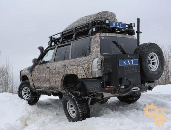 Задний силовой бампер KDT для Nissan Patrol Y61 под лебедку