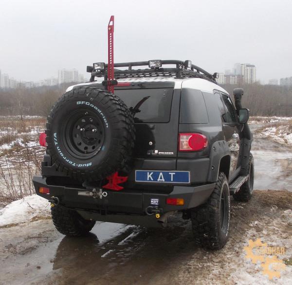 Задний силовой бампер KDT для Toyota FJ Cruiser