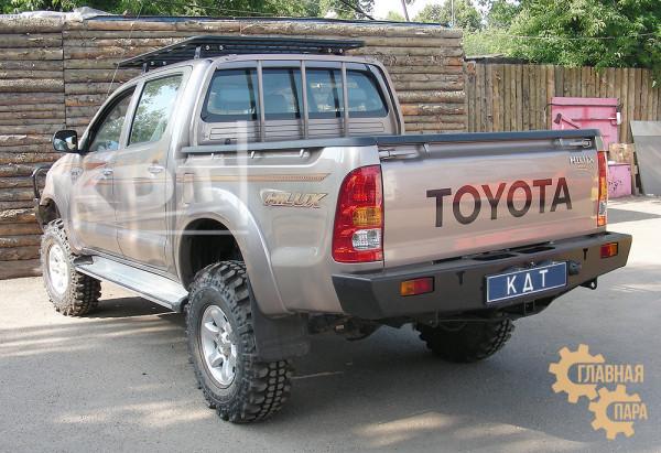 Задний силовой бампер KDT для Toyota Hilux 2005-2015 под лебедку