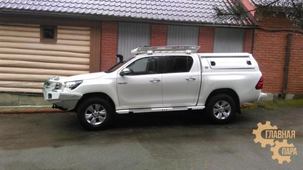 Задний силовой бампер KDT для Toyota Hilux 2015+ под лебедку