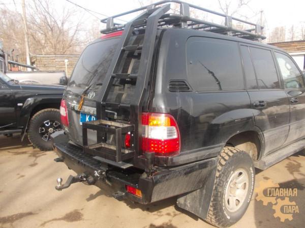 Задний силовой бампер KDT для Toyota Land Cruiser 100