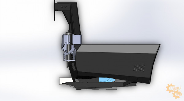 Задний силовой бампер KDT для Toyota Land Cruiser 200 под лебедку, боди-лифт 50 мм