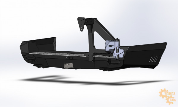 Задний силовой бампер KDT для Toyota Land Cruiser 200