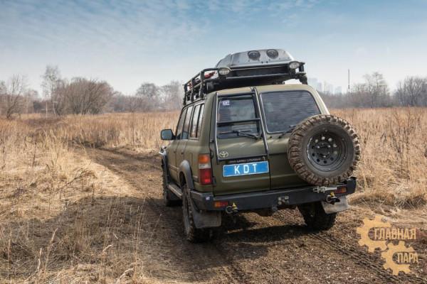 Задний силовой бампер KDT для Toyota Land Cruiser 80