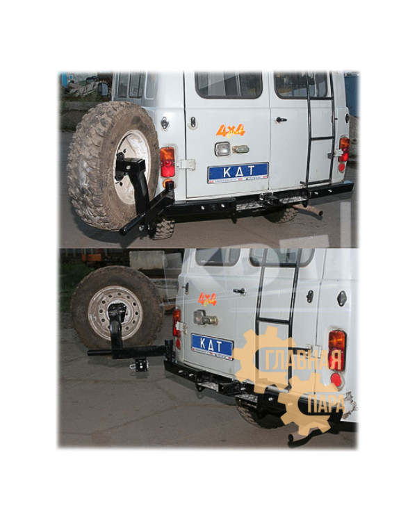 Задний силовой бампер KDT для УАЗ Буханка