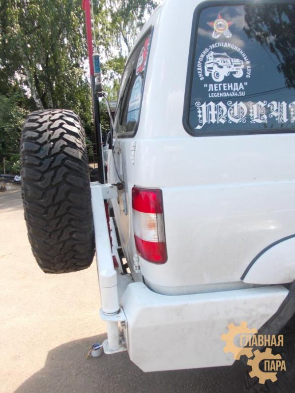 Задний силовой бампер KDT для УАЗ Патриот под лебедку