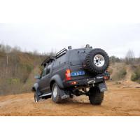 Задний силовой бампер с калиткой крепления запасного колеса KDT для Toyota Hilux Arctic Trucks