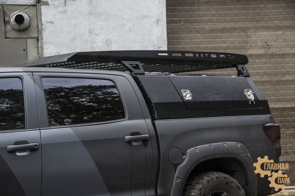 Багажник алюминиевый KDT для кунга - Toyota Tundra