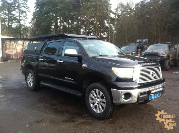 Багажник алюминиевый KDT для кунга увеличенный - Toyota Tundra