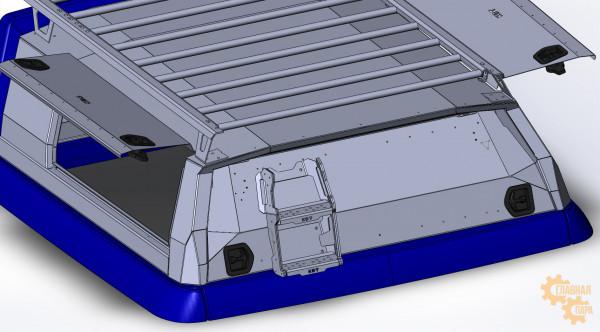 Багажник-площадка KDT алюминиевый для кунга
