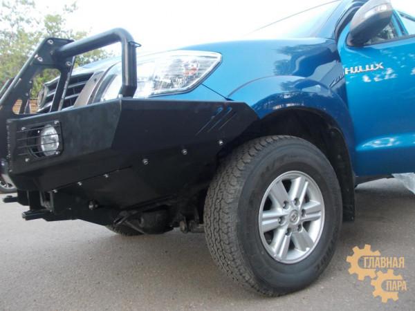 Алюминиевый передний силовой бампер KDT для Toyota Hilux 2005-2015